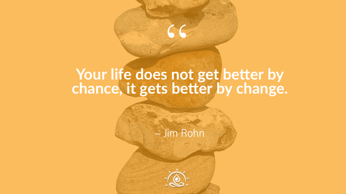 Weekly Quote ~ Your life does not get better by chance…