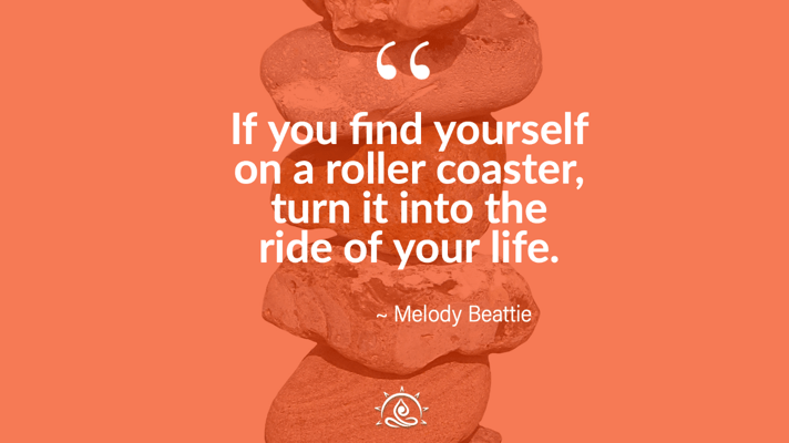 Weekly Quote ~ If you find yourself on a roller coaster…