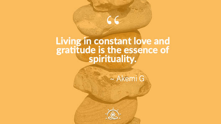 Weekly Quote ~ Living in constant love and gratitude…