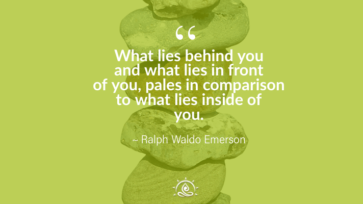 Weekly Quote ~ What lies behind you and what lies in front of you…