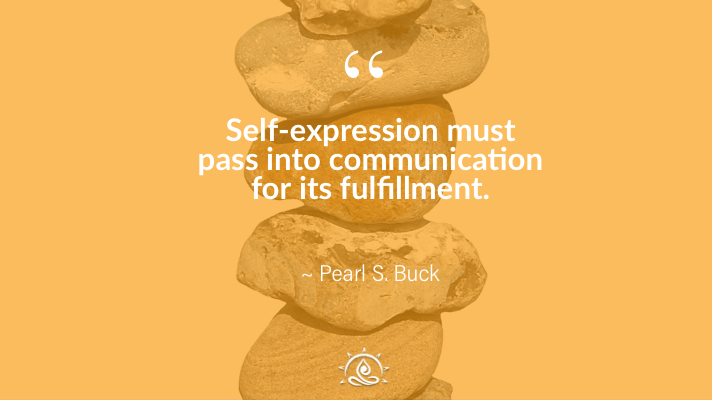 Weekly Quote ~ Self- expression must pass into…