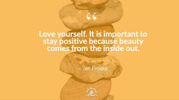 Weekly Quote ~ Love yourself.  It is important to stay positive…
