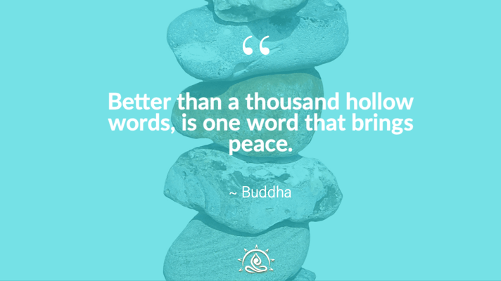 Weekly Quote ~ Better than a thousand hollow words…