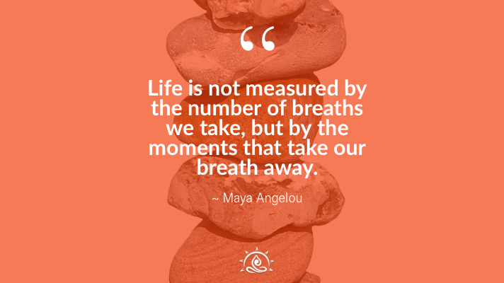 Weekly Quote ~ Life is not measured by the number…